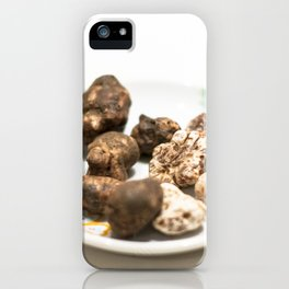 Tartufo bianco e nero | White and black mushrooms truffle. iPhone Case
