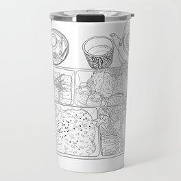 Japanese Bento Box - Line Art Travel Mug
