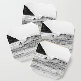Black and White Surfer Print Coaster