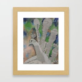 Peacock meets Shakesphere Framed Art Print