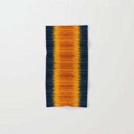 N249 - Orange Blue Oriental Vintage Boho Moroccan Style Hand & Bath Towel
