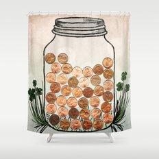 Lucky Pennies Shower Curtain