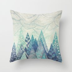 Mountain Crash Throw Pillow
