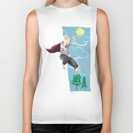 The man who has no imagination has no wings. Biker Tank