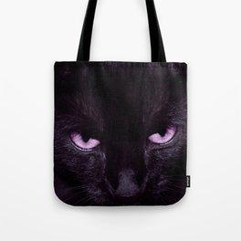 Black Cat in Amethyst - My Familiar Tote Bag