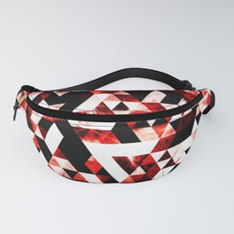 Triangle Geometric Vibrant Red Smoky Galaxy Fanny Pack