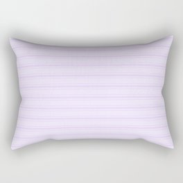 Chalky Pale Lilac Pastel Wide Mattress Ticking Stripes Rectangular Pillow