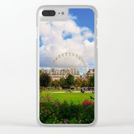 Garden of Tuileries Clear iPhone Case