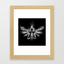 Triforce Smoke Framed Art Print