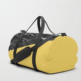 Black Marble and Primrose Yellow Color Duffle Bag