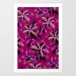 Snake Palms - Purple Art Print