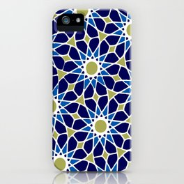 Blue & Green Mosaic Pattern iPhone Case