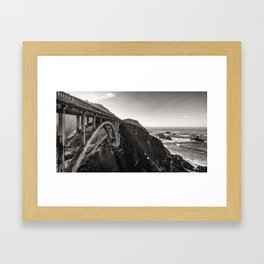 Bixby Bridge - California Framed Art Print