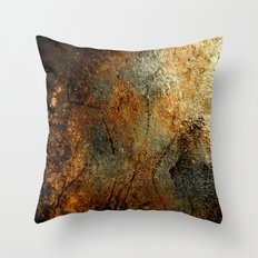 Rust Texture 69 Throw Pillow
