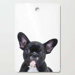 French bulldog portrait Cutting Board
