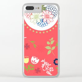 Floral love - series Clear iPhone Case