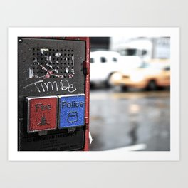 New York Fire and Police  Art Print