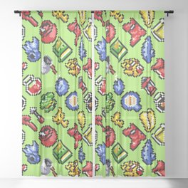 The Legend of Zelda : A Link to the Past | funny pattern Sheer Curtain