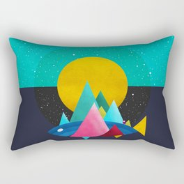 047 Owly travelling through vast cosmic sea Rectangular Pillow