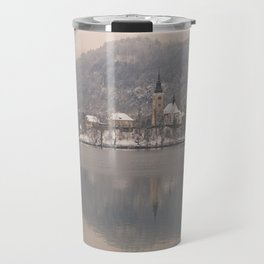 Bled Island On A Wintry Day Travel Mug