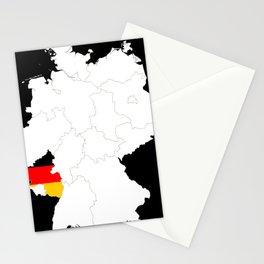 Rhineland Palatinate Flag Germany Rheinland Pfalz Gift design Stationery Cards