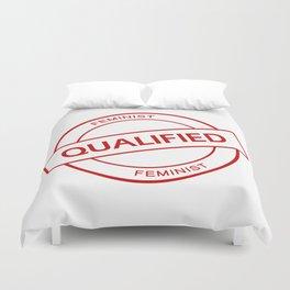 Qualified Feminist Duvet Cover