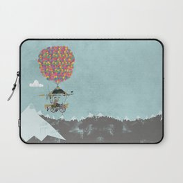 Riding A Bicycle Through The Mountains Laptop Sleeve