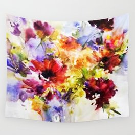 Floral Art Wall Tapestry
