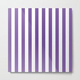 Vertical Purple Stripes Metal Print