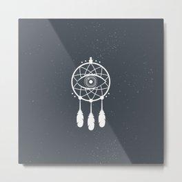 Eye Dream Catcher - Oniric Style Design Metal Print