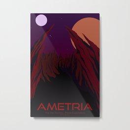 Planet Exploration: Ametria Metal Print