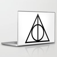 deathly hallows Laptop & iPad Skins featuring Deathly Hallows symbol by Vera