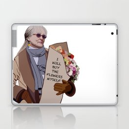 I will buy the flowers myself Laptop & iPad Skin