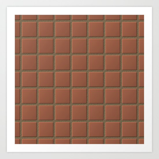 Terra Cotta Tiles with Sandy Grout Art Print