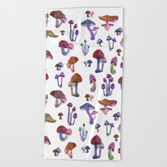 mushrooms everywhere Beach Towel