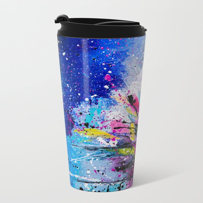 Night Lotus Metal Travel Mug