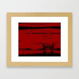 Black Grunge on Red Framed Art Print