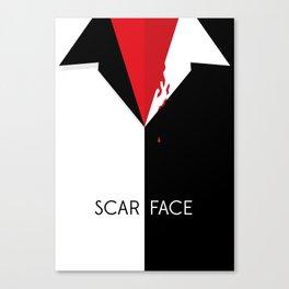 Scarface Minimalist Movie Poster Canvas Print