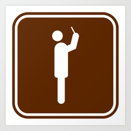 "Urban Pictograms ""Selfie"" Art Print"