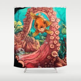Under the glup... Shower Curtain