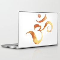 om Laptop & iPad Skins featuring OM by Alexandra Doerge