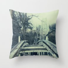 Abandoned Amusement Park 03 Throw Pillow