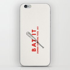 Bat it - Zombie Survival Tools iPhone & iPod Skin