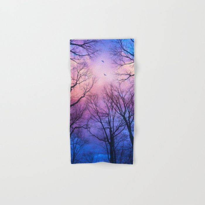 A New Day Will Dawn  (Day Tree Silhouettes) Hand & Bath Towel