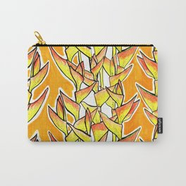 Heliconia Rostrata / Lobster Claw, yellow, orange  & white, Carry-All Pouch