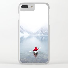 Kayaking Across A Canadian Lake Clear iPhone Case