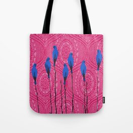 Little birds in the trees Tote Bag