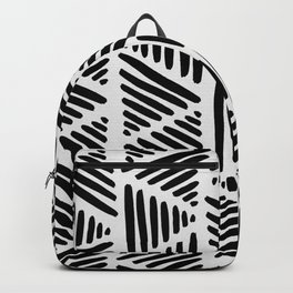 Black and White Abstract I Backpack
