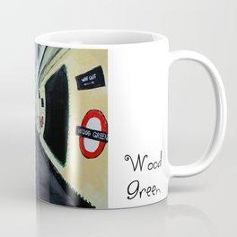 London Underground Wood Green Acrylics On Paper Coffee Mug
