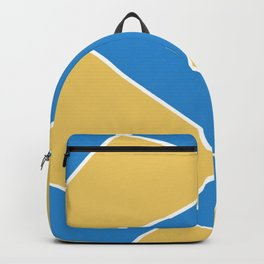 Geometric abstract - orange and blue. Backpack